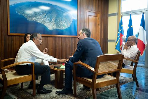 Visite de Raphaël Glucksmann à La Réunion