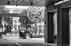 Oxford people discussing (akatsoulis) Tags: shoppingcenter citycenter oxford britain uk nikoneurope nikonuk nikkor nikkor50mm14g nikond5300 nikon cityscape monochrom blackandwhite streetphotography