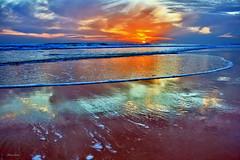 Reflexos (Zéza Lemos) Tags: portugal praia pordesol puestadelsol sunset sol sunny surf algarve água areia aves anoitecer entardecer mar ondas oceano oceanoatlântico natureza natur nuvens núvens vilamoura reflexos