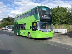 Stickers coming along (ccoultas) Tags: 35565 yorkshire west first bus leeds daimler mercedes streetdeck wrightbus leedscity