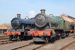 GWR Pair (Treflyn) Tags: gwr great western railway society modified hall class 43xx 4300 460 6998 burtonagneshall churchward mogul 260 5322 shed didcot centre