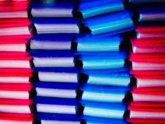 Little Red and Blue Books (Steve Brewer Photos) Tags: colour color abstract shapes bright gaudy repetition