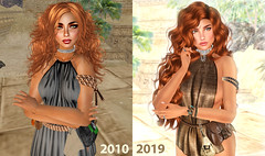 Then and Now #SecondLifeChallenge (floudimo) Tags: gor gorean kajira roleplay second life sl goreanroleplay
