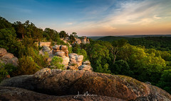 Garden of the Gods (Wits End Photography) Tags: gardenofthegods clouds woods colorful color sunset southernillinois nature twilight illinois sky shawneenationalforest shawnee evening statepark dusk cloudy colors multicolored