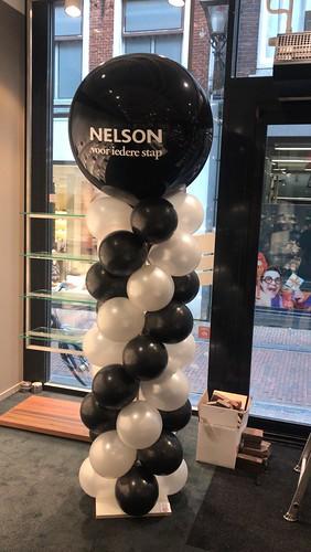 Ballonpilaar Breed Rond Bedrukt Nelson Schoenen Leiden