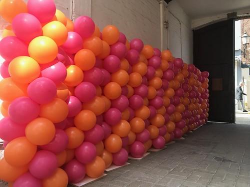 Ballonpilaar Breed Ladies City de Luxe Diest Belgie