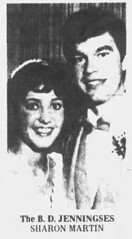 1983 - Bruce Jennings marries Sharon Martin - South Bend Tribune - 26 Jun 1983