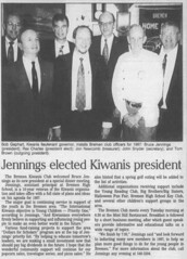 1996 - Bruce Jennings president of Kiwanis - South Bend Tribune - 1 Nov 1996