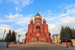 Znamensky Cathedral in Kemerovo city (man_from_siberia) Tags: cathedral orthodox orthodoxcathedral church temple architecture kemerovo city siberia russia christian christianity собор кемерово христианство православие храм spring may 2019 весна май архитектура canon eos 5d dslr canoneos5d canon5d canon5dclassic fullframe canonef24mmf28isusm