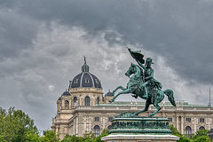 Wien, Regnerischer Nachmittag (Erzherzog Karl am Heldenplatz) (liakada-web) Tags: at aurorahdr aurorahdr2019 austria aut belichtungsreihe bracketing d7500 hdr nikon nikond7500 vienna wien wieniinnerestadt österreich