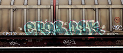 graffiti on freights (wojofoto) Tags: amsterdam nederland netherland holland graffiti streetart cargotrain freighttraingraffiti freighttrain freights fr8 vrachttrein wojofoto wolfgangjosten trein train eros