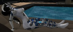 Pool Side~ (Xeni Lavina Agelov) Tags: secondlife roleplay androids nsfw female nude