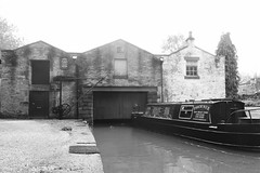 Whaley Bridge Wharf and building  (Peak Forest Canal)   May 2019 (dave_attrill) Tags: wharfbuilding wharf whaleybridge peakforest canal towpath peakdistrict nationalpark derbyshire may 2019 cheshirering waterway blackwhite monochrome