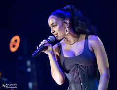Jorja Smith @ WaMu Theater (Kirk Stauffer) Tags: cute beautiful beauty amazing glamour nikon photographer feminine gorgeous awesome goddess adorable attractive lovely charming fabulous darling kirk d5 stauffer glamorous lovable show lighting blue red portrait musician music woman brown white english girl smile smiling fashion lady female wonderful hair lights photo concert model eyes women perfect long pretty tour sweet live teeth gig group young band style lips precious short singer indie stunning corset tall ponytail brunette performer vocals siren petite bustier cleavage