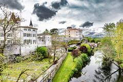 13-Bourdeilles médiéval (Alain COSTE) Tags: 2019 bourdeilles dordogne dronne nikon ocb périgordvert rivière sigma20mmf14 printemps village france