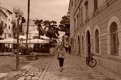 Tired of walking (rwbthatisme) Tags: x100f fujifilm walking street croatia porec