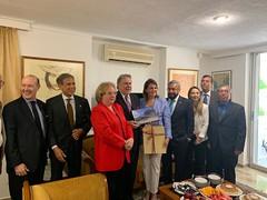 Συνάντηση ΥΠΕΞ Γ. Κατρούγκαλου με Πρέσβεις χωρών της Λατινικής Αμερικής που εδρεύουν στην Αθήνα (Αθήνα, 21.05.2019) (Υπουργείο Εξωτερικών) Tags: υπεξ κατρουγκαλοσ αθηνα πρεσβειεσλατινικησαμερικησστηναθηνα katrougalos mfaofgreece athens embassiesoflatinamericacountries