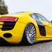 """Yellow Audi R8 stanced • <a style=""""font-size:0.8em;"""" href=""""http://www.flickr.com/photos/54523206@N03/46985056845/"""" target=""""_blank"""">View on Flickr</a>"""