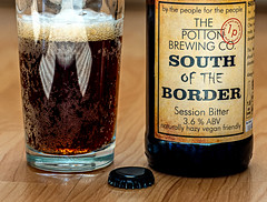 Glass of  South of the Border ( a 3.6% red Bitter from the Potton Brewery) (Panasonic S1 & Lumix S 24-105mm f4 Zoom) (1 of 1) (markdbaynham) Tags: beer cerveza birra ale bitter drink label closeup panasonic s1 panasonics1 lumix lumixszoom lumixs1 lumixer 24105mm 24105mmf4 panasoniczoom dmcs1 ff fullframe fullframemirrorless panasonicfullframe mirrorless mirrorlesscamera mirrorlessfullframe pottonbrewery bottle