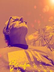 Embracing The Sun | Pop Art (PEEJ0E) Tags: person clouds sky tree tone duo art pop filter psexpress selfie self me