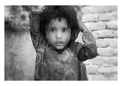 face to face (handheld-films) Tags: india portrait portraiture girl street eyes faces indian people closeup monochrome blackandwhite travel rural rajasthan