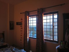 Light that comes in from outside (Somersaulting Giraffe) Tags: indoor ngc room building light curtains bed window sunlight