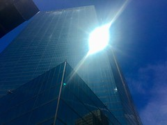 Boston - Copley Square! (Polterguy40) Tags: blue architecture light sunlight sun reflection johnhancocktower massachusetts boston random