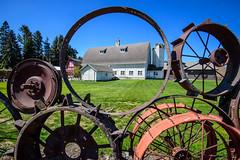 Fence at Uniontown, WA (Richard McGuire) Tags: palouse uniontown washington fence frame wheels