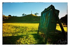 Archery Range, Cornwall Park (cjhall.nz) Tags: morning crisp landscape bluesky green wideangle grass newzealand auckland cornwallpark onetreehill archery