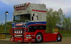Swedish Dream. (NicolasBum) Tags: scania truck parking norway green chrome red