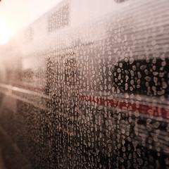 Caltrain (bior) Tags: fujifilmxpro2 xf16mmf14 caltrain train window dirty glass sanfranciscobayarea square