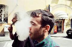 Thicc smoke (dvd.otero) Tags: analog film kodak vision3 250d olympus om10 smoke portrait vaper cloud italy tuscany