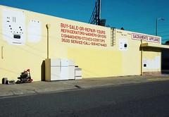 BUY-SALE-OR-REPAIR-YOURS (rickele) Tags: usedappliances appliancerepairshop oakparkneighborhood sacramento paintedsign oldus99 usroute99