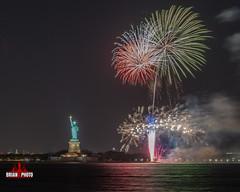 Statue Of Liberty Fireworks-1-4 (bkrieger02) Tags: fireworks fireworksphotography nightphotography longexposure statueofliberty libertyisland ellisisland hudsonriver brooklyn louisvalentinojrpark redhook nyc newyorkcity colors colorful waterreflections reflections canonusa teamcanon 7dmkii sigma sigmaart artlens 24105