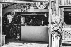 bike repair shop (mark.mandy) Tags: bike repair peak district blackwell mill black white