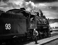 02469376422492-112-19-05-Iron Horse-12-Black and White (You have failed me for the last time Jim) Tags: america ely nevada nevadanorthernrailwaymuseum southwest usa whitepinecounty history locomotive museum rail steam people blackandwhite monochrome train