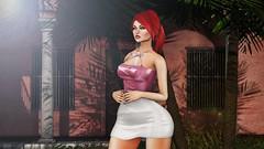 ♚ Look #690 ♚ (Caity Saint) Tags: love hair redhead ersch dress sl vista backdrop secondlife maitreya pixels avatar backdropcove