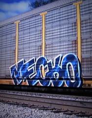 (timetomakethepasta) Tags: mecro cdc freight train graffiti art autorack