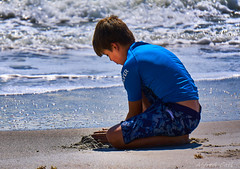 Building Sand Castles (Alfredo Rafael) Tags: castles sand building beach melbourne boys seashore summer ocean surf sun water blue florida childsplay