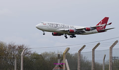 Virgin Atlantic a330 landingat Belfast International (Photographs and Images of Northern Ireland) Tags: virgin atlantic 747 belfast international airport easyjet ryanair thomas cook tui flights jet2 sunset sunrise northern ireland ulster county red hand orange views scenic waterfalls rivers golf courses fishing giants causeway tourists travel derry londonderry brexit border antrim castle park walks tollymore forest