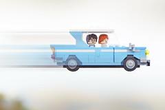 LEGO Harry Potter Ford Anglia (weeLEGOman) Tags: lego harry potter ford anglia chamber secrets ron weasley flying car vehicle minifigure minifigures toy macro photography uk nikon d7100 105mm rob robert trevissmith weelegoman