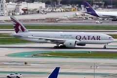 Qatar Airways   Boeing 777-200LR   A7-BBA   Los Angeles International (Dennis HKG) Tags: aircraft airplane airport plane planespotting oneworld canon 7d 100400 losangeles klax lax qatar qatarairways qtr qr boeing 777 777200 boeing777 boeing777200 777200lr boeing777200lr a7bba