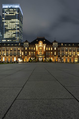 Tokyo Station Vertical (separatesunsets) Tags: 21stmay2019 asia downpour holiday2019 japan may2019 rainy tokyo tourist warm