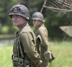 America goes to War -  Poquoson Museum Virginia (watts photos1) Tags: america goes war poquoson museum virginia reenactor reenactors camp us army military soldier soldiers