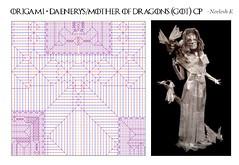 ORIGAMI- MOTHER OF DRAGONS (Daenerys Targaryen) (GOT) CP ! (Neelesh K) Tags: origami daenerys mother dragons queen khaleesi creasepattern cp boxpleating paperfolding neeleshk mothers day