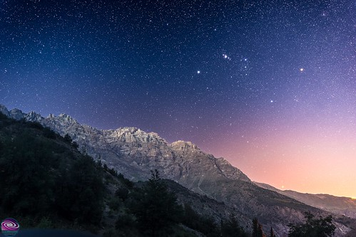 Orion and the Chilean Andes