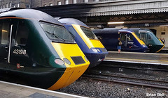 3 All four First Great Western Railway GWR HSTs at Paddington Station by Brian Bell (focus- transport) Tags: last day first great western railway gwr hsts out paddington station 18th may 2019 swallow livery harry patch