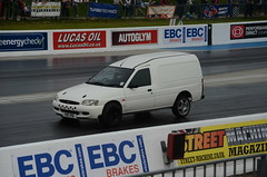 (Sam Tait) Tags: doorslammers santa pod raceway england drag strip race track ford escort mk6 van white zetec turbo