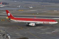 B-5923 ZRH 19.01.2019 (Benjamin Schudel) Tags: sichuan airlines airbus a330300 b5923 zrh lszh zurich international airport switzerland wuliangye livery china