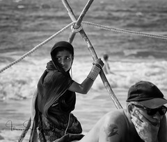 on the beach (tsd17) Tags: mono people india canon 7dmk11 goa tribal beach